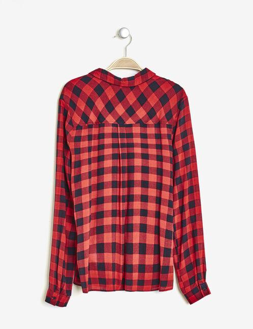 chemise à carreaux rouge et noir