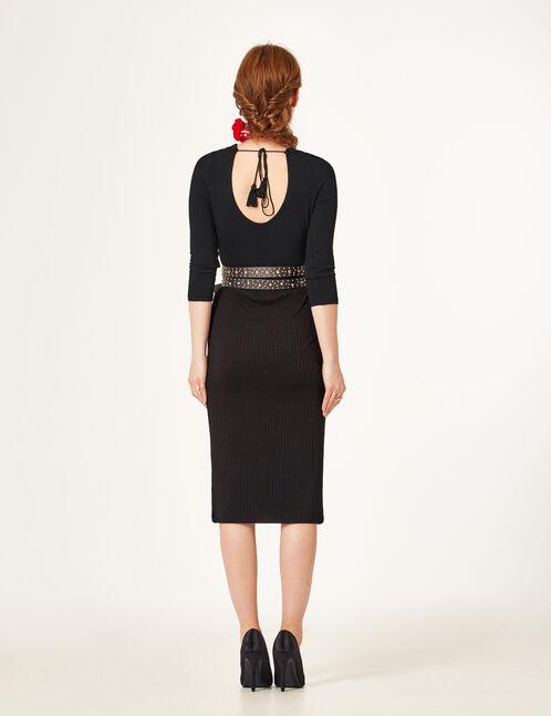 jupe tube longue noire
