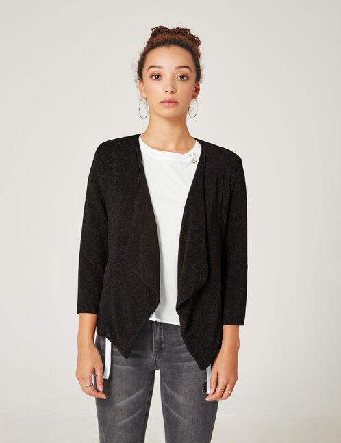 veste effet pailleté noire