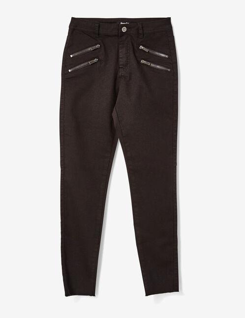 pantalon avec zips déco noir