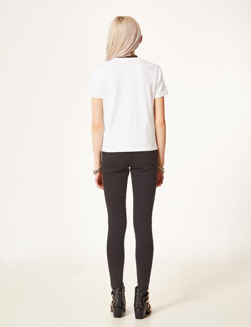 jean skinny avec œillets noir