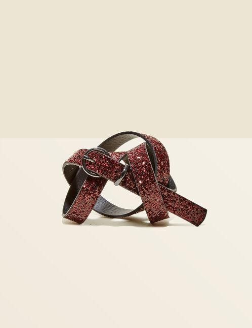 ceinture pailletée rouge