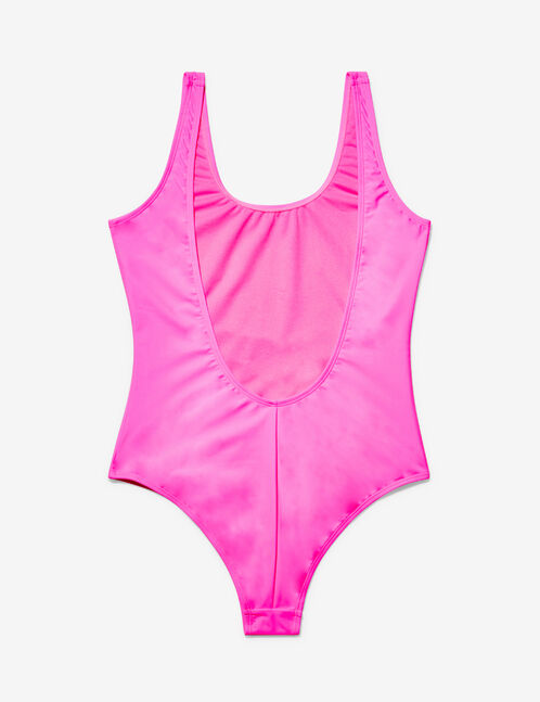 "Neon pink ""vitamin sea"" swimsuit"