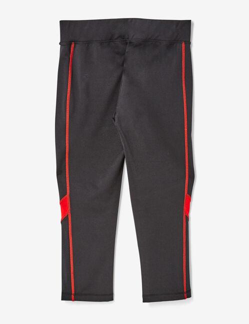 corsaire fitness tricolore noir, rouge et blanc