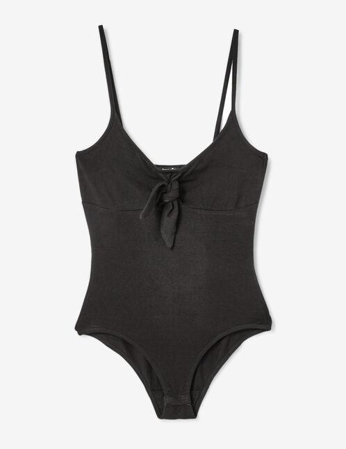 body avec noeud noir