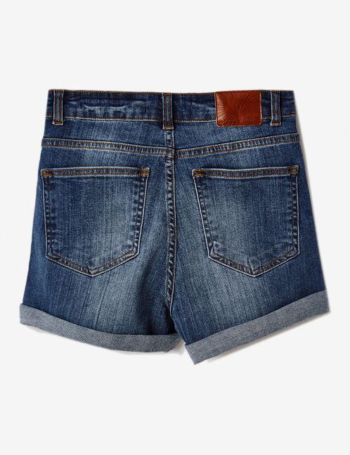 short en jean avec revers medium blue