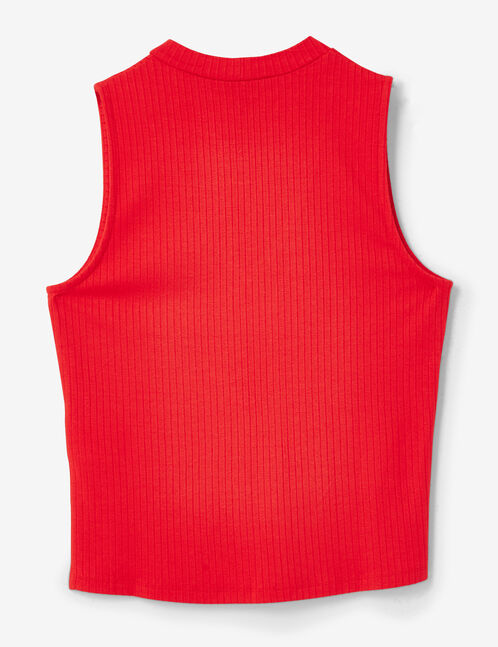 tee shirt avec ouverture rouge
