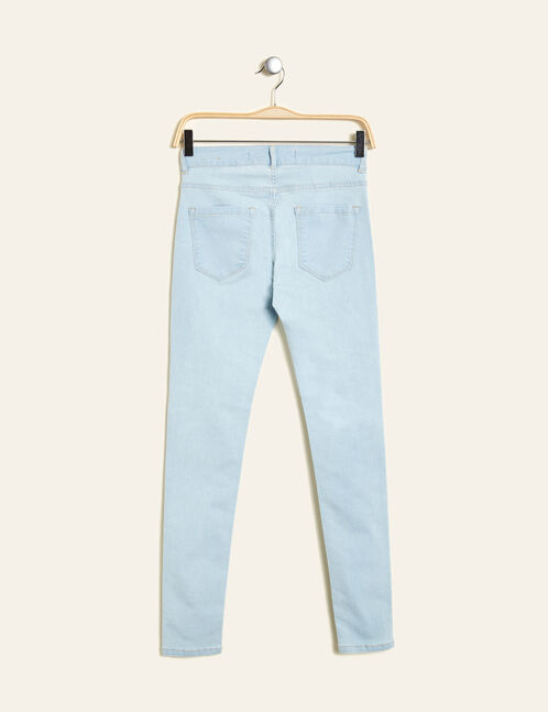 Light blue denim jeggings