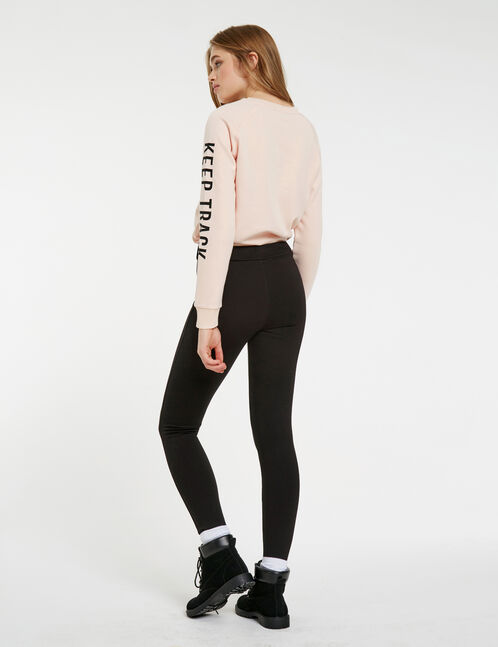 Milano leggings with black buttons