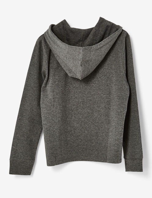sweat cupcake gris anthracite chiné