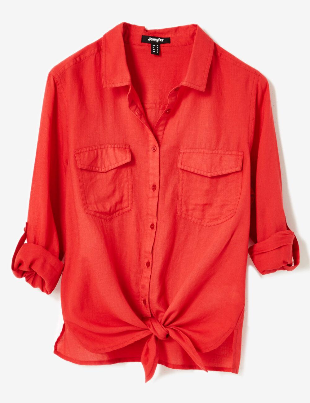 chemise nouer rouge femme jennyfer. Black Bedroom Furniture Sets. Home Design Ideas