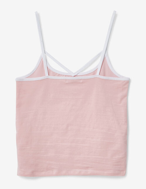 """Light pink and white """"crush"""" camisole"""