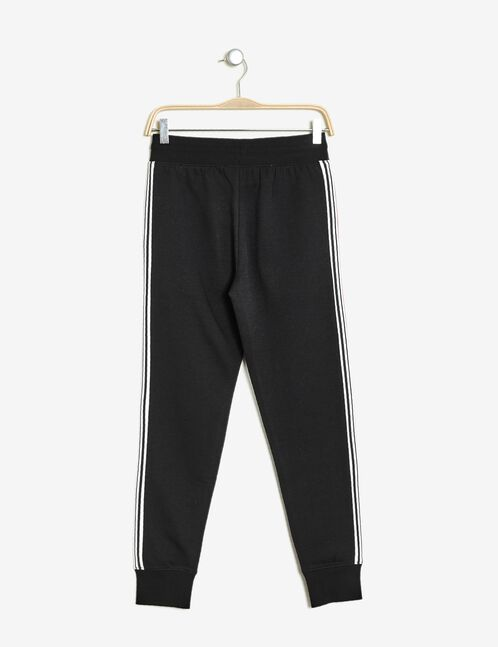 Black joggers with stripe detail