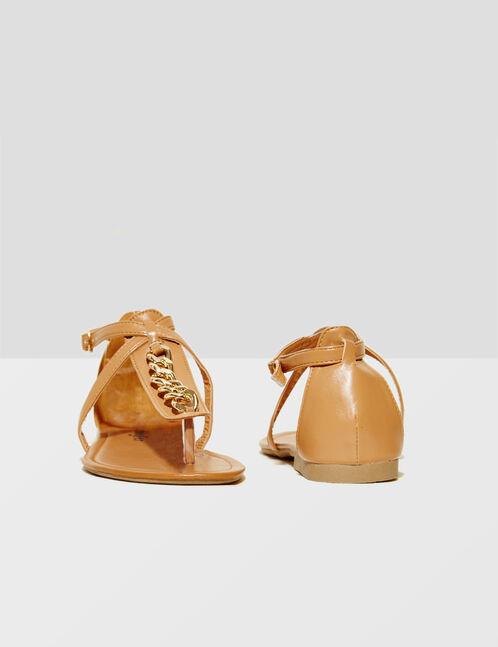 sandales plates avec chaines