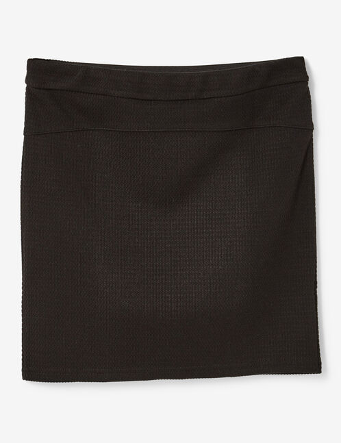 Black textured tube skirt