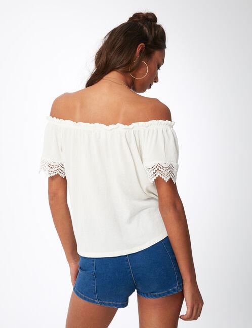 Cream off-the-shoulder top