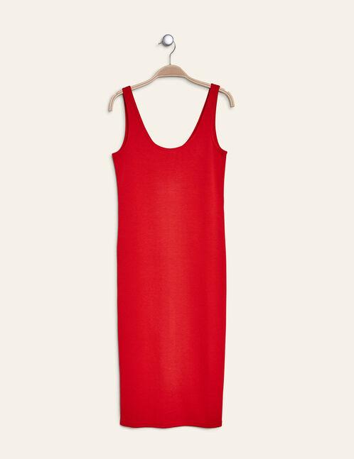 robe tube longue rouge