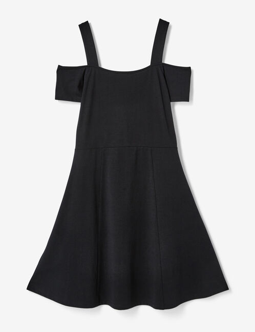 robe fleurie patineuse noire