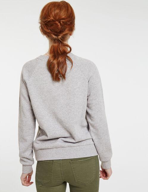 Grey marl print sweatshirt