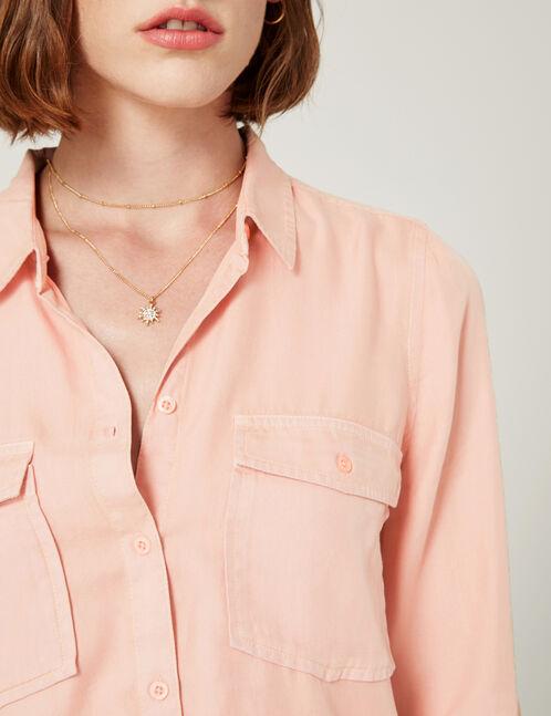 chemise basic rose clair