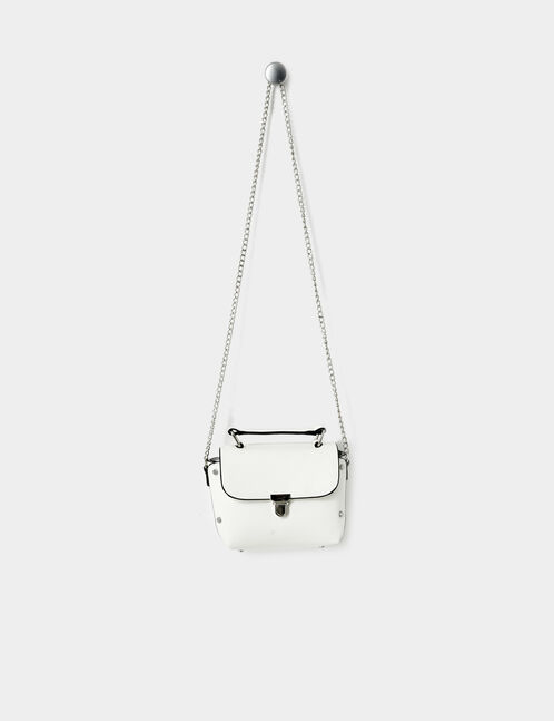 Small cream crossbody bag with stud detail