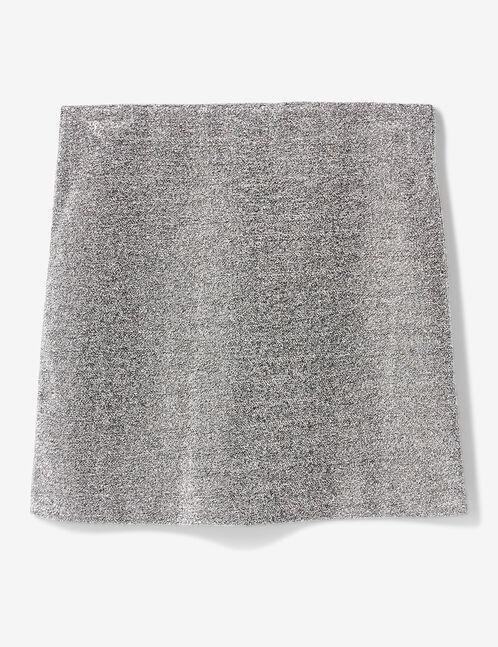 jupe avec fils lurex argentée