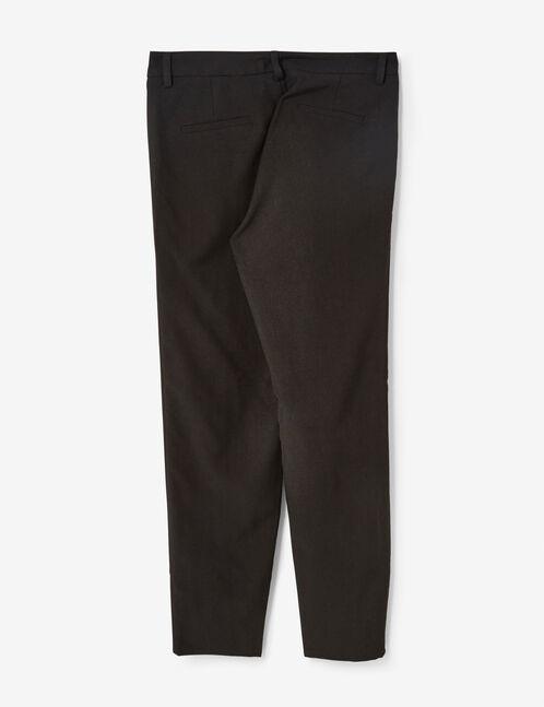 pantalon ville à volants noir
