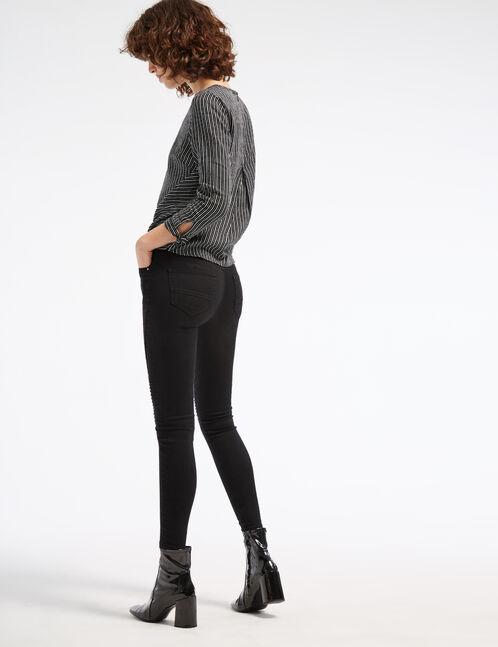 Black biker trousers with zip detail