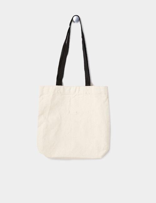 "Beige ""feminist"" tote bag"