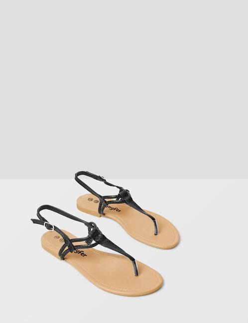 sandales à brides noires