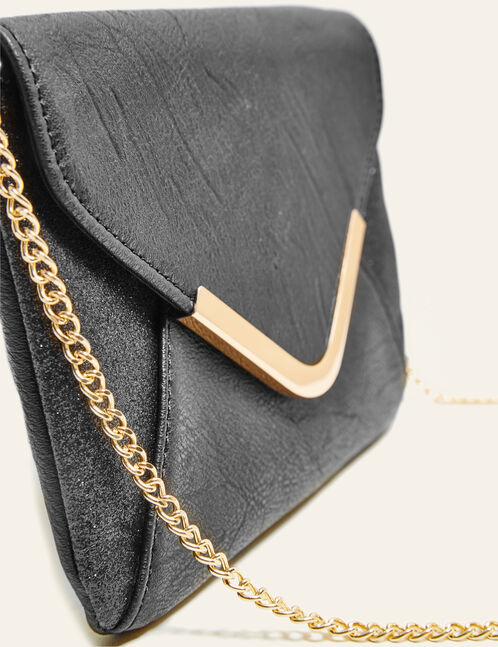 Black sparkly mini clutch