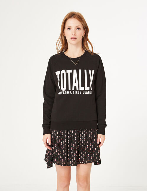 Black text design sweatshirt