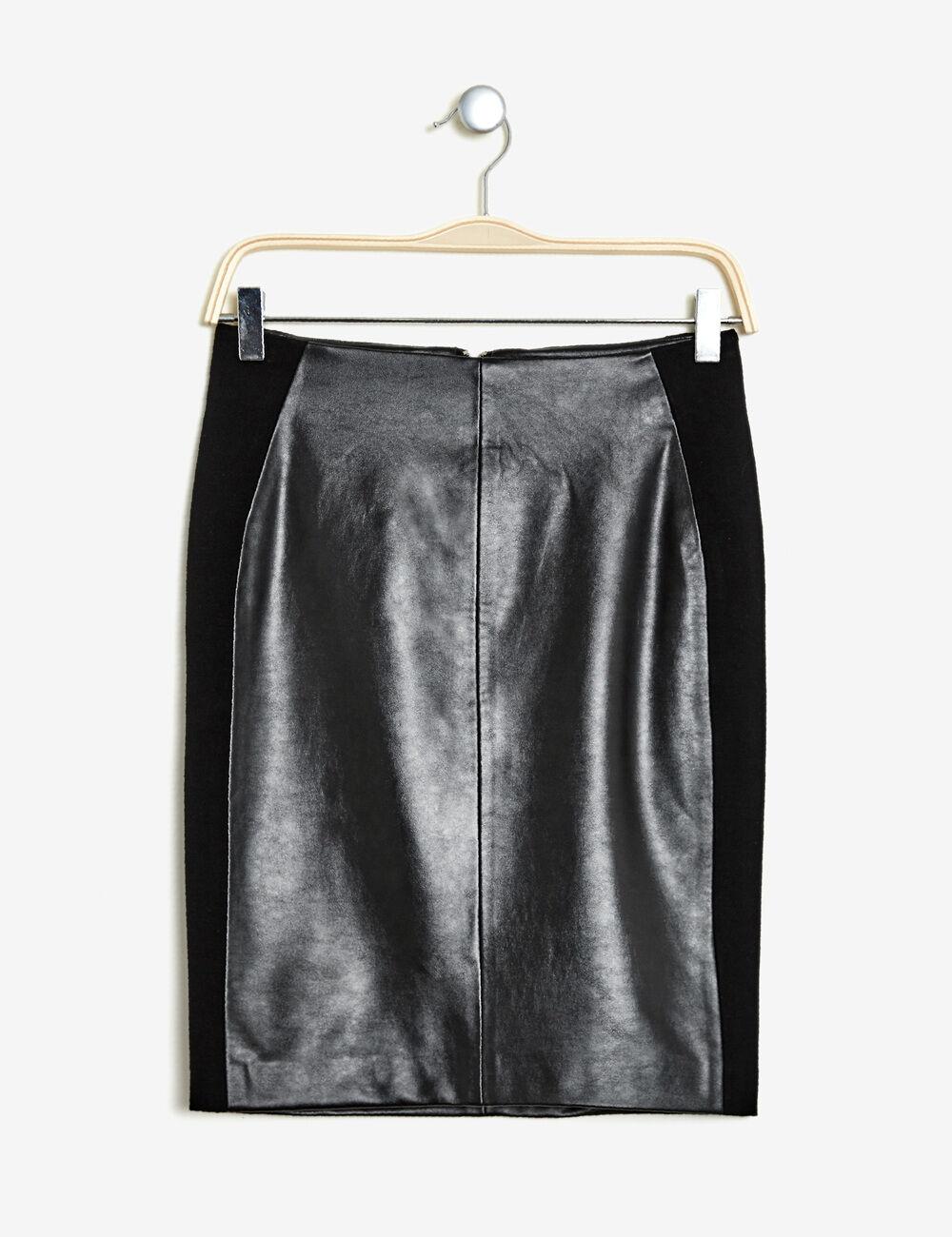 jupe tube bi mati re noire femme jennyfer. Black Bedroom Furniture Sets. Home Design Ideas