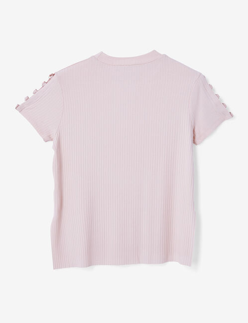 Light pink T-shirt with ring detail