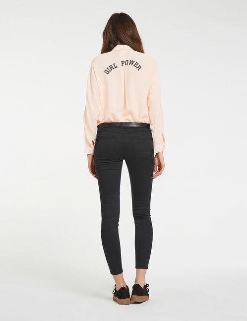 pantalon avec empiècements noir