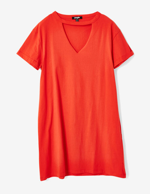 robe tee-shirt rouge