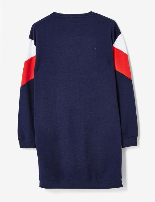 robe sweat avec chevrons bleu marine