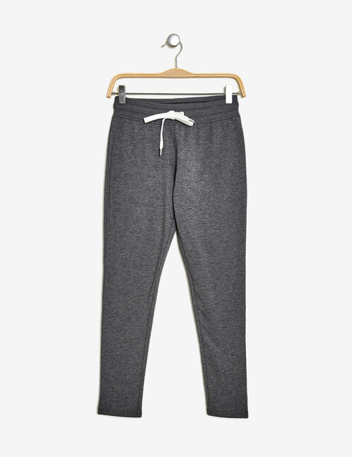 Charcoal grey marl skinny joggers
