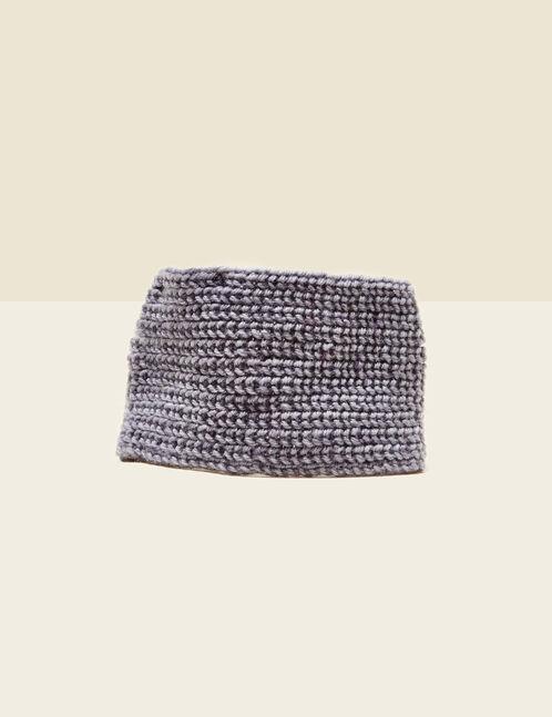 Grey bow-effect headband