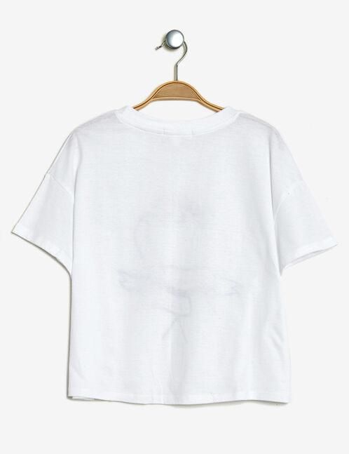 crop top imprimé blanc