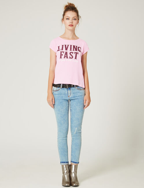 Bleached push-up skinny jeans