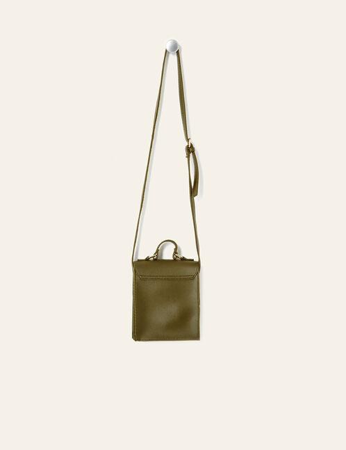 sac à main rectangulaire kaki