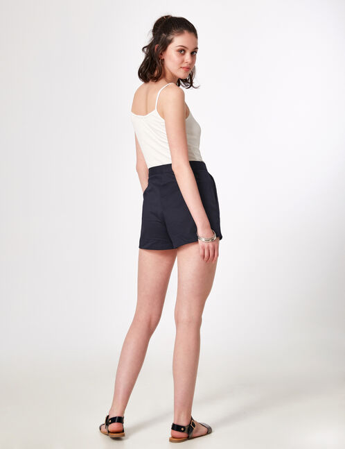 Navy blue tailored shorts