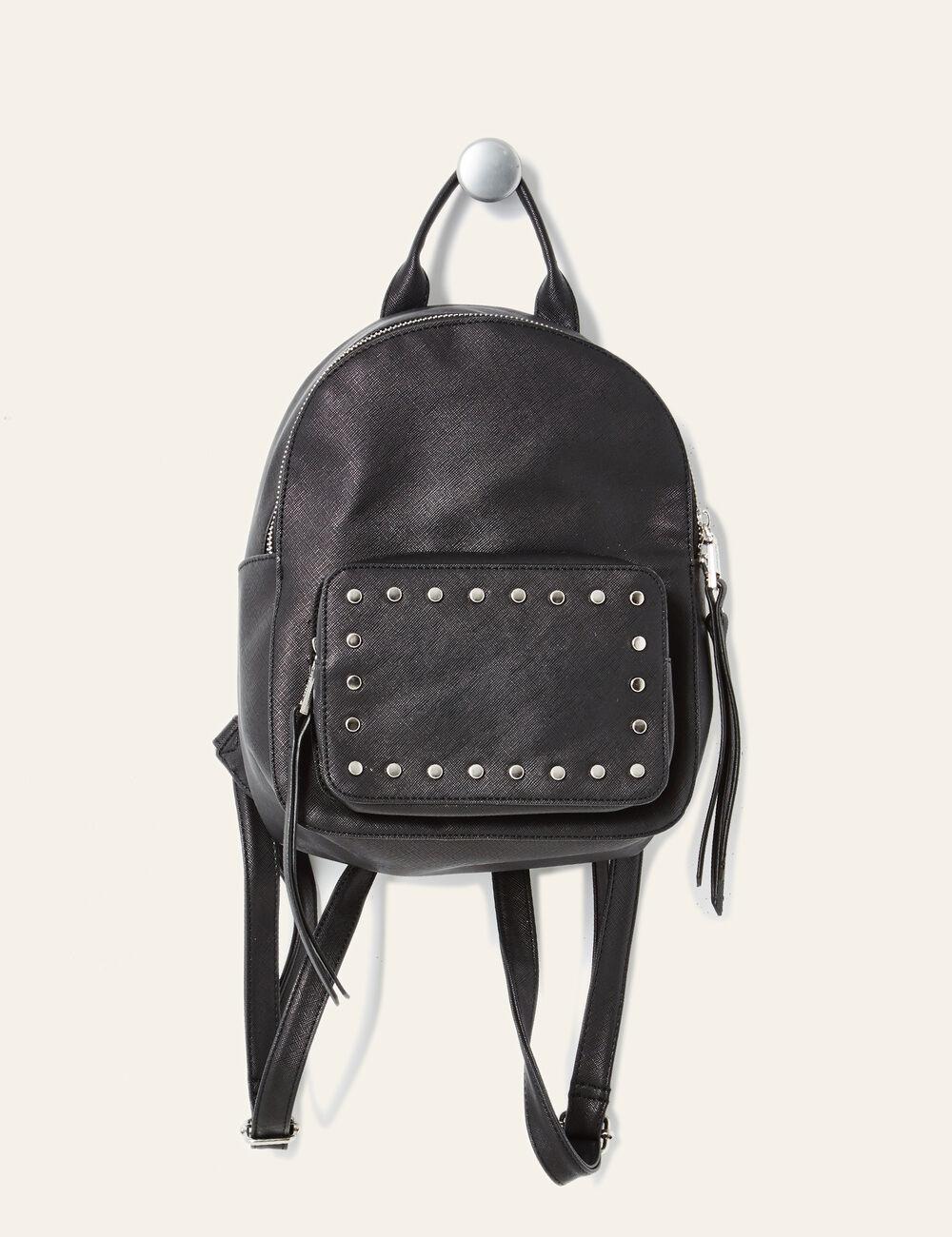 petit sac dos clout noir femme jennyfer. Black Bedroom Furniture Sets. Home Design Ideas