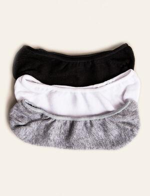 chaussettes pour ballerines noires, grises et blanches