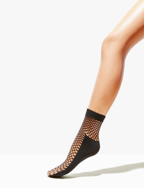 Black mesh socks