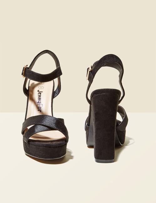 sandales plateformes noires