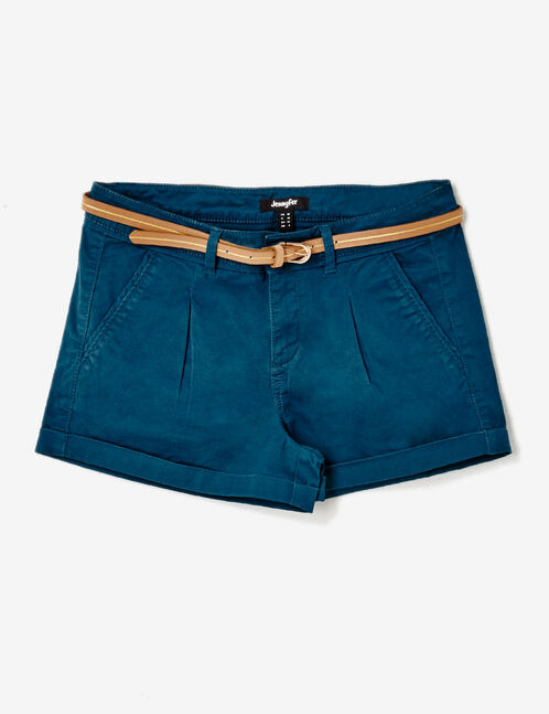 Navy blue belted shorts