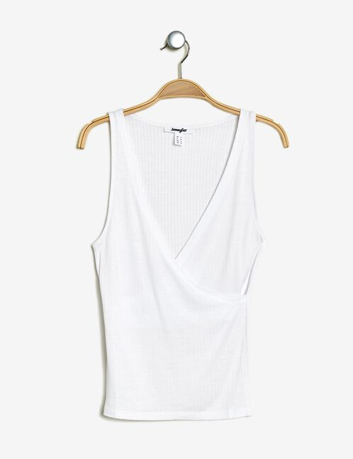 White crossover tank top