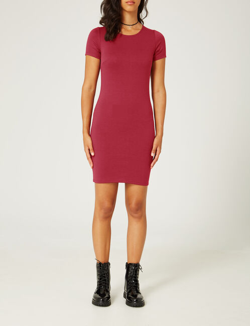robe ajustée rouge